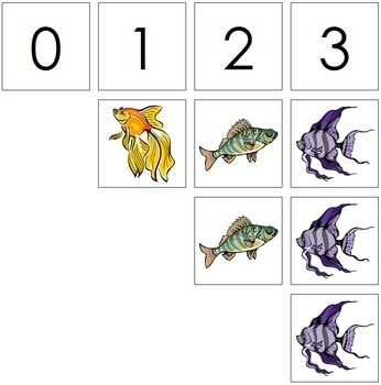 0 to 10 Number Cards and Counters - Fish