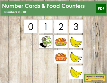 0 to 10 Number Cards and Counters - Food