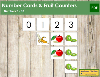 0 to 10 Number Cards and Counters - Fruit