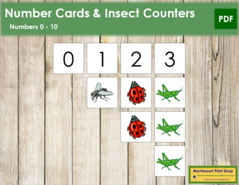 0 to 10 Number Cards and Counters - Insects