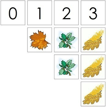 0 to 10 Number Cards and Counters - Leaves
