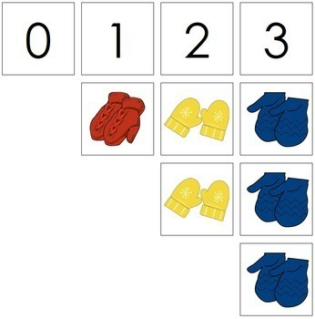 0 to 10 Number Cards and Counters - Mittens
