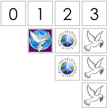 0 to 10 Number Cards and Counters - Peace
