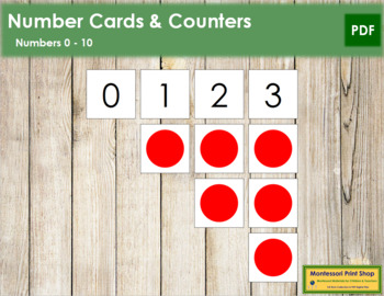 0 to 10 Number Cards and Counters