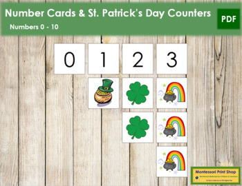 0 to 10 Number Cards and Counters - St. Patrick's Day