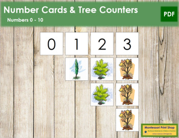 0 to 10 Number Cards and Counters - Trees