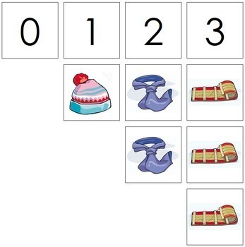 0 to 10 Number Cards and Counters - Winter