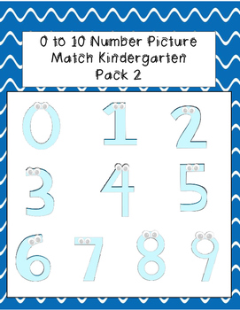 0 to 10 Number Picture Match Pack 2
