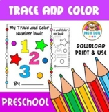 0 to 10 Trace and colour Number Book Pre-K & Preschool