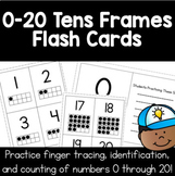 0 to 20 Flash Cards | Finger Tracing, Number Id, Ten Frames