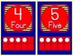 0 to 20 Number Cards for Classroom Display (Primary Blue, Red, Yellow)