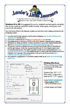 0 to 50 Math Flashcards (English/Spanish)