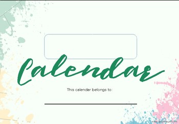 003 - Printable 2018 Calendar