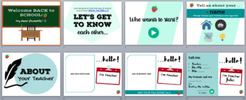 004 - TPT - Welcome back to School & Getting to Know Slides