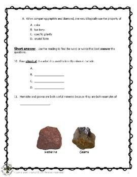 01 CD Rocks, Minerals, Fossils - Geology-Minerals, Comprehension, p1, 3