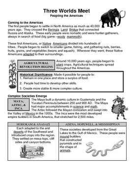01 - Three Worlds Meet - Scaffold/Guided Notes (Filled-In Only)