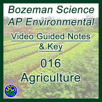 016 Agriculture - Bozemanscience AP Environmental Guide & Key