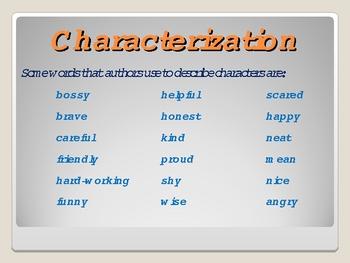 024 - ELA Characterization Grades 2 - 3