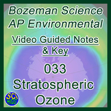 033 Stratospheric Ozone - Bozeman Science AP Environmental Guide & Key