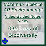 035 Loss of Biodiversity - Bozeman Science AP Environmental Guide & Key