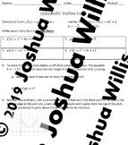 04-17 Quadratic Vertex Form Worksheet