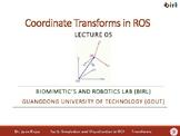 05. Coordinate Transforms in ROS