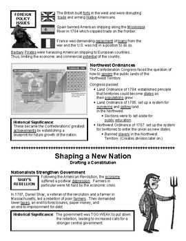 05 - Shaping a New Nation - Scaffold/Guided Notes (Filled-In Only)