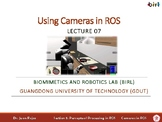 07a Using Cameras in ROS