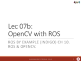 07b. OpenCV with ROS