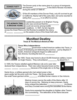 09 - Manifest Destiny - Scaffold/Guided Notes (Blank and Filled-In)