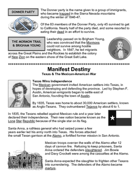 09 - Manifest Destiny - Scaffold/Guided Notes (Filled-In Only)