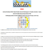 09000 Activity Workbook with a 9 x 9 Big Print Challenging