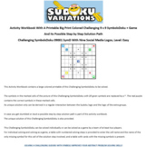 09001 Activity Workbook with a 9 x 9 Big Print Challenging