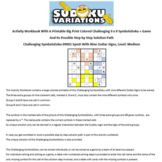 09002 Activity Workbook with a 9 x 9 Big Print Challenging