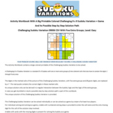 09006 Activity Workbook with a 9 x 9 Big Print Challenging