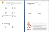 9001z - Solving Linear Equations in One Variable (two-step)