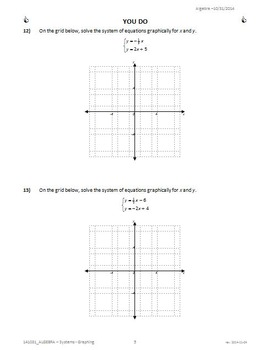9042 - SYSTEMS of LINEAR EQUATIONS - Graphing