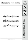 0_Musicstave_N123 Font - Home User