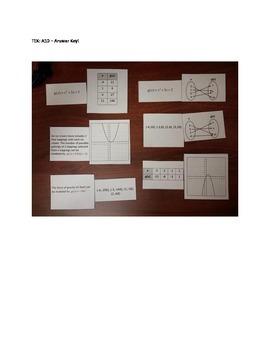 0wn the Algebra 1 STAAR (Texas) - TEK A1D matching activity