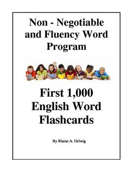 Fluency and Non-Negotiable FLASHCARD Program (FREE)