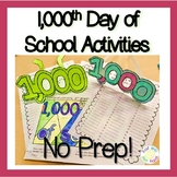 1,000th Day of School Activities- 100th Day of 5th Grade