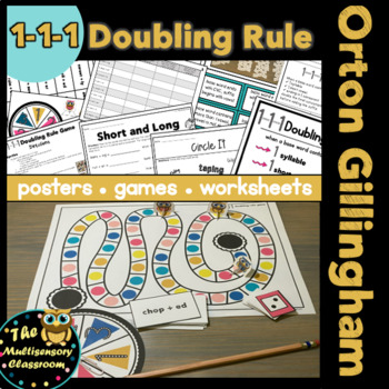 1-1-1 Doubling Rule for Orton Gillingham Instruction