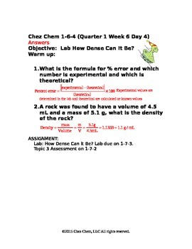 1-6-4 Quarter 1 Week 1 Day 4 answers