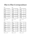 1:1 Correspondence Data Sheet