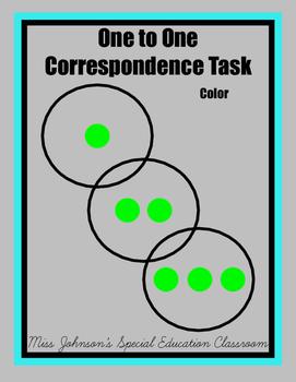 1:1 Correspondence Task