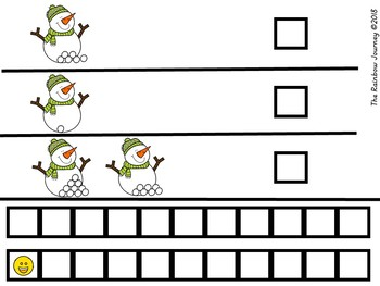 Winter 1-1 Counting Book - Green Snowman - #1-21