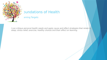 1.1 Foundations of Health PowerPoint