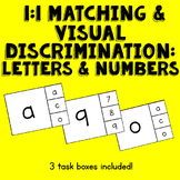 1-1 Matching and Visual Discrimination - Letters and Numbe