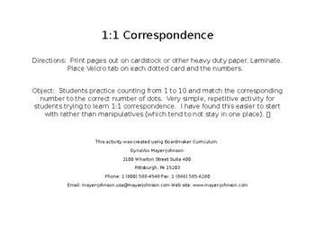 1:1 Number Correspondence