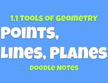1.1 Point, Lines, Planes Doodle Notes